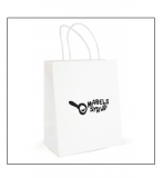 Printed Brunswick Medium White Paper Bag