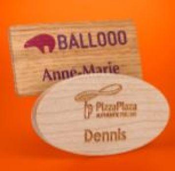 ECO FRIENDLY FSC Wooden Name Badge - Individual names