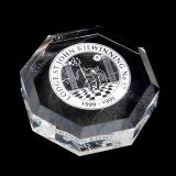 Optical Crystal Octagon Paperweight