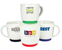 Promotional Paris Rubber Based Mug