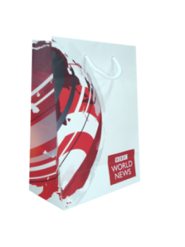 Printed A4+ Laminated Rope Handle Bag