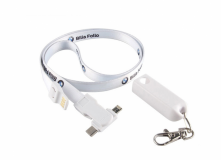 Printed 3-in-1 Charging Cable Lanyard