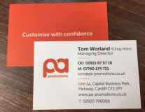 Printed Deluxe Laminated Business Cards