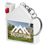 Printed House Shape Tape Measure Keyring