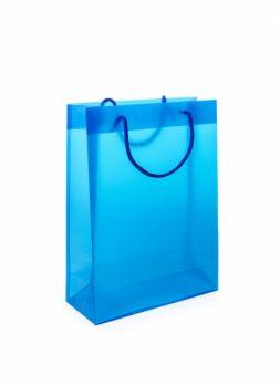 Printed Transparent Rope Handled Bag Medium