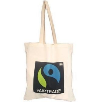 Printed Natural 5oz Cotton Shopper with Long Handles