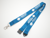 Promotional 20mm Flat Poly Lanyard