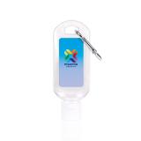 Promotional 50ml Hand Sanitiser Gel with Carabiner Clip