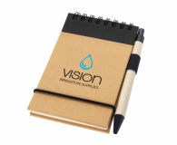 Promotional A7 Zuse Recycled Notebook with Pen