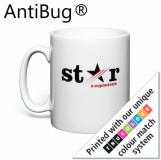 Promotional AntiBug White Durham Ceramic Mug