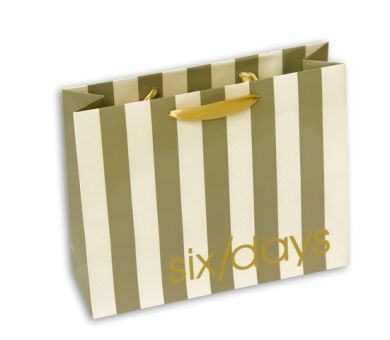 Printed Laminated Rope Handle Paper Shopping Bag