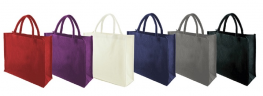Promotional Laminated Dyed Jute Shopping Bag