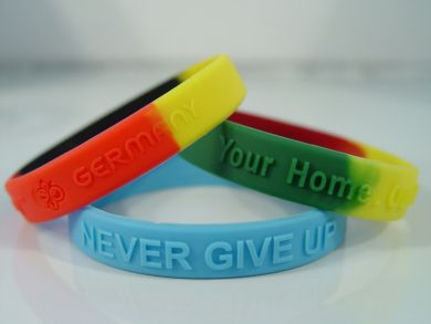 Promotional Multi Coloured Silicon Wristband - Embossed