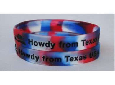 Promotional Multi Coloured Silicon Wristband - Debossed