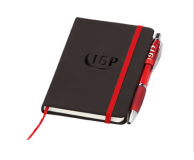 Promotional Small Noir Notebook with Curvy Pen