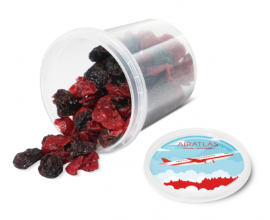 Promotional Raisin and Cranberry Snack Pot
