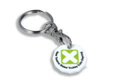 Promotional Recycled Trolley Chip Keyring - New Shape