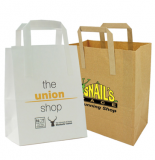Promotional SOS Flat Handle Paper Bag - Medium