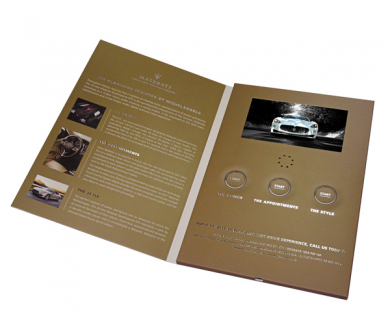 Promotional Video Greeting Card 7 inch Screen