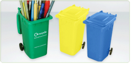 Personalised Recycled Wheelie Bin Pen Pot