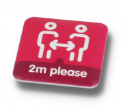 Social Distancing DBase Button Badge 37mm Square