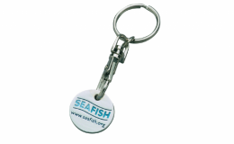 Promotional Enamel Trolley Coin Keyring - Round