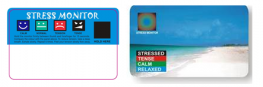 Promotional Stress Monitor Card