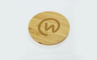 Personalised Wood Wireless Charger