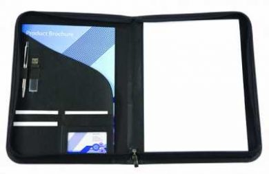 Promotional Houghton A4 Zipped Folder